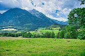 mountain landscape in the near of the Watzmann in Bavaria, Germany