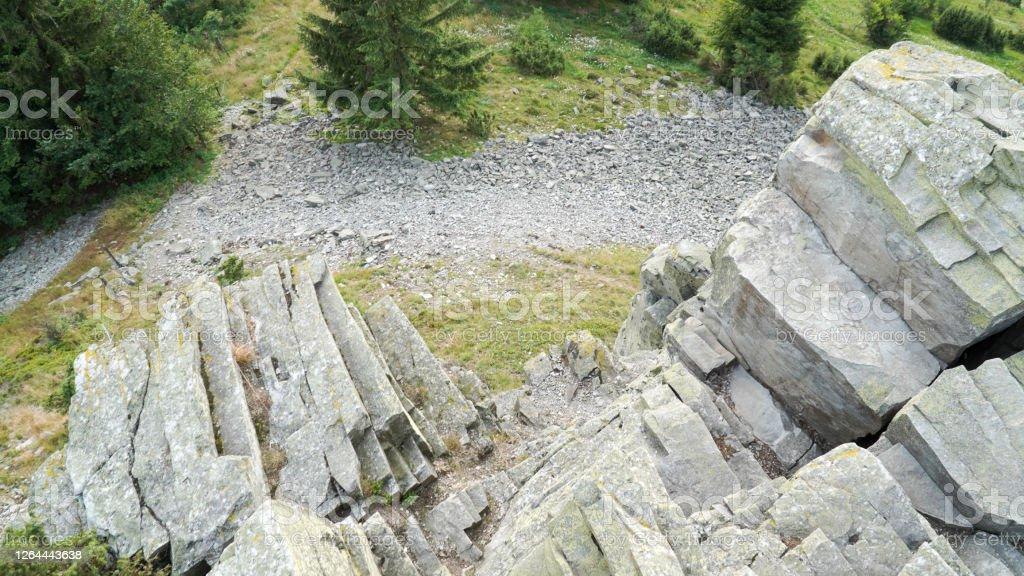 Grüne Berglandschaften auf der Wasserkuppe in Hessen. - Lizenzfrei Abenteuer Stock-Foto