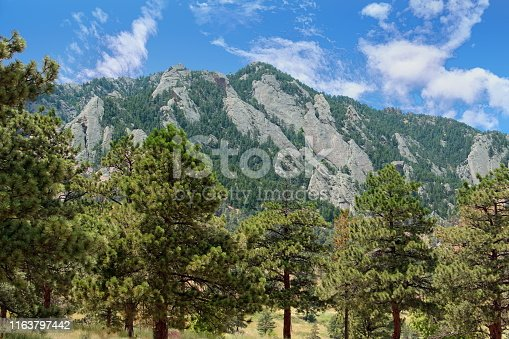 A view of Green Mountain situated on the eastern flank of the Front Range of the Rocky Mountains, Colorado, USA