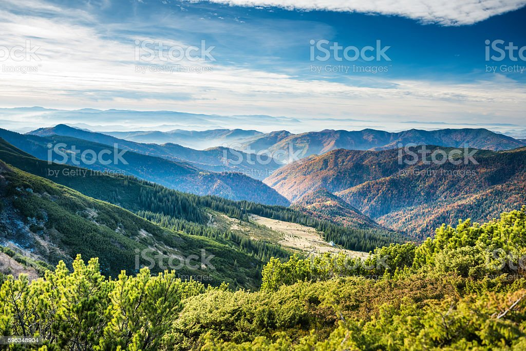 Green mountains and hills royalty-free stock photo