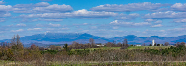Green Mountains in Vermont stock photo