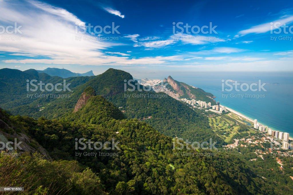 Green Mountains of Rio de Janeiro City stock photo