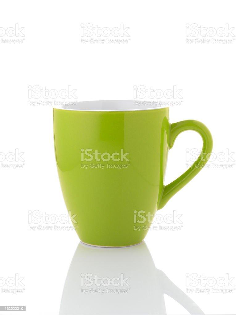 Green une tasse de café sur fond blanc - Photo