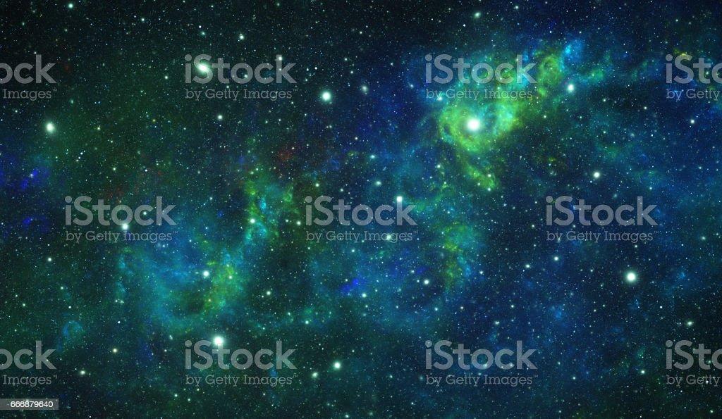Green nebula stock photo