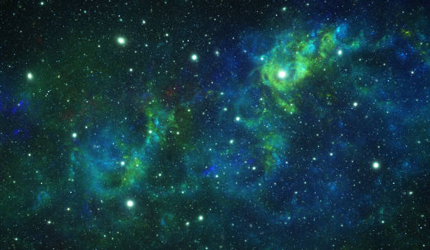 Green nebula stock photo