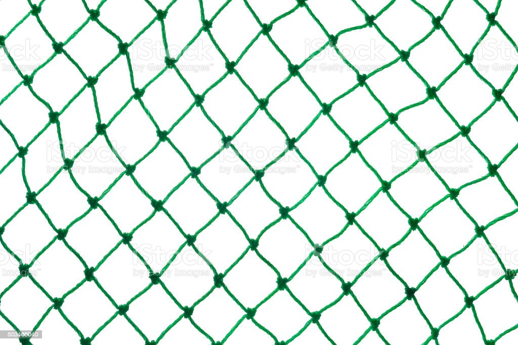 green net on white background stock photo