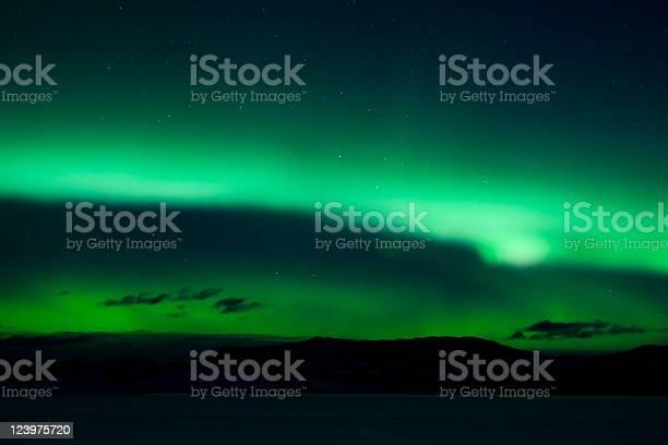 Photo of Green northern lights (aurora borealis)