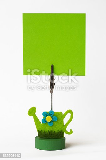 istock Green note paper 637908440