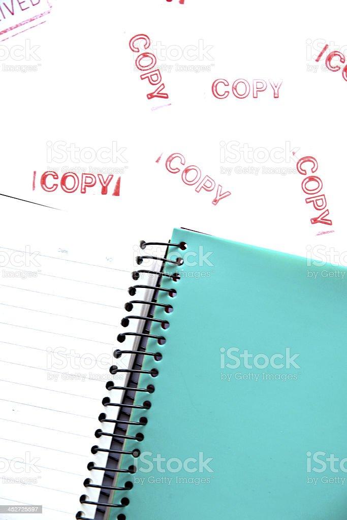 Green Notebook. stock photo