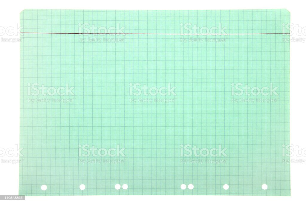 Green notepad page royalty-free stock photo