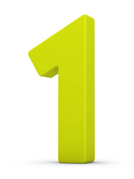 green number 1 - 一個物體 個照片及圖片檔