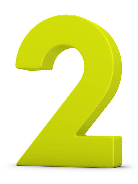 green number 2 stock photo