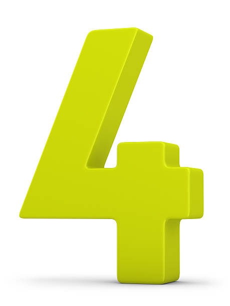green number 4  number 4 stock pictures, royalty-free photos & images