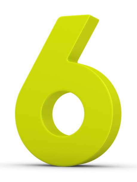 green number 6 - number 6 stock photos and pictures