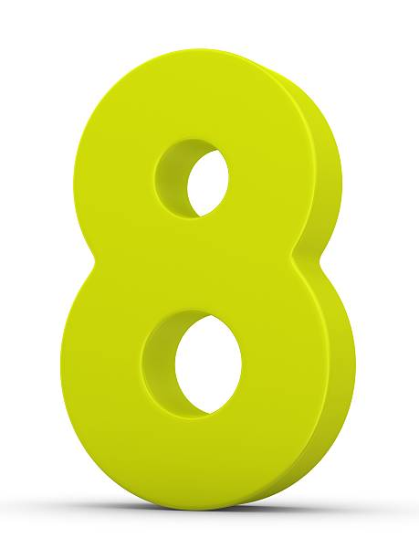 green number 8 - number 8 stock pictures, royalty-free photos & images