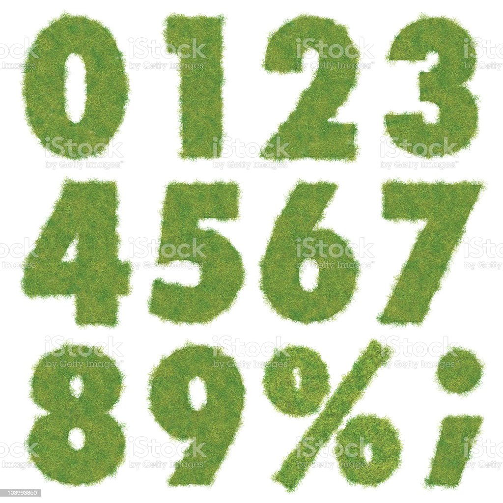 green numbers royalty-free stock photo