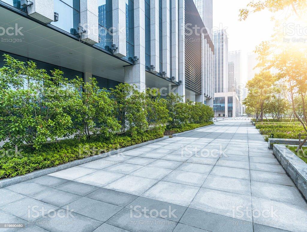 green office block of shagnhai stock photo