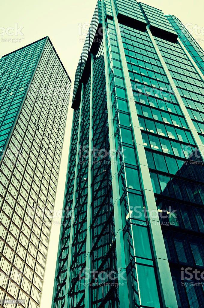 Green Bürogebäuden in Frankfurt am Main Lizenzfreies stock-foto
