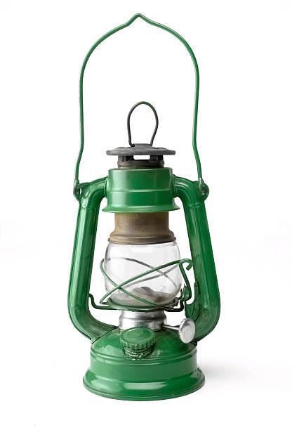Green Oil Lamp stock photo