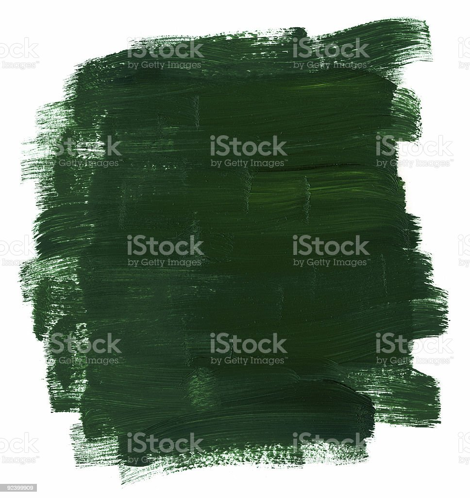 Green oil paint royalty-free stock photo
