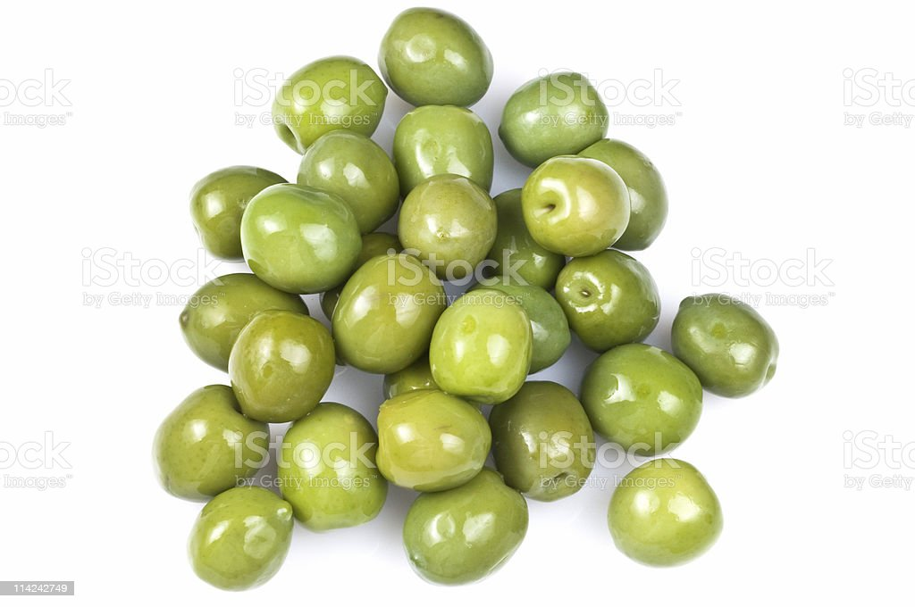 Green olives from above royalty-free stock photo