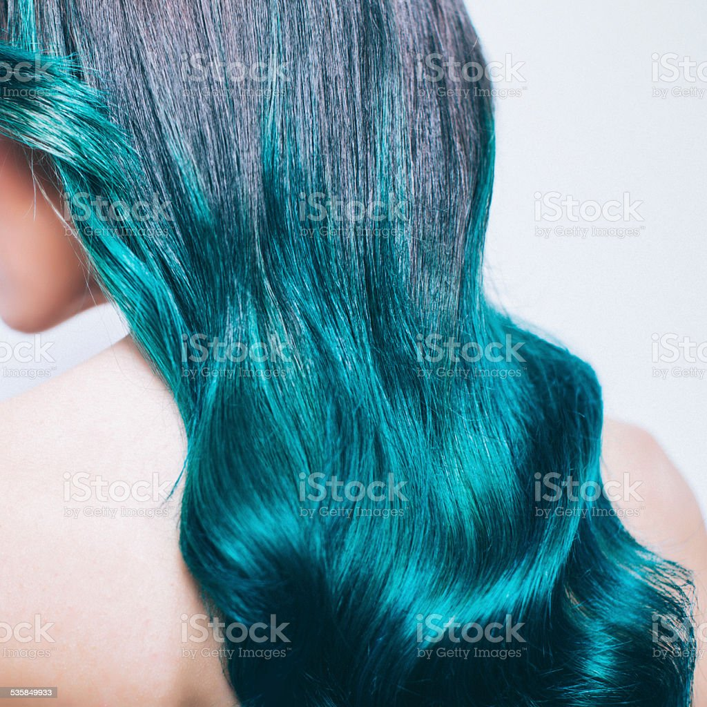 Green Ombre Hair Stock Photo More Pictures Of 20 24 Years Istock