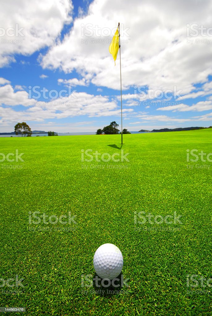 Green on beautiful Golf Course stock photo