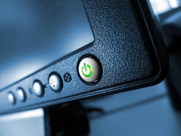 green Ein/Aus-Knopf – Foto