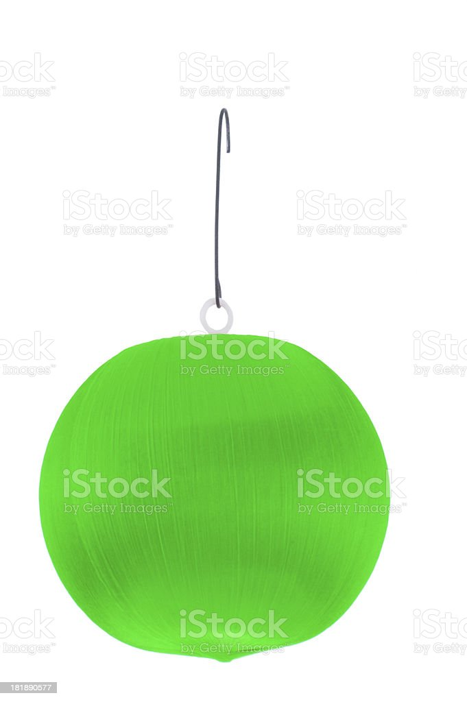 green ornament stock photo