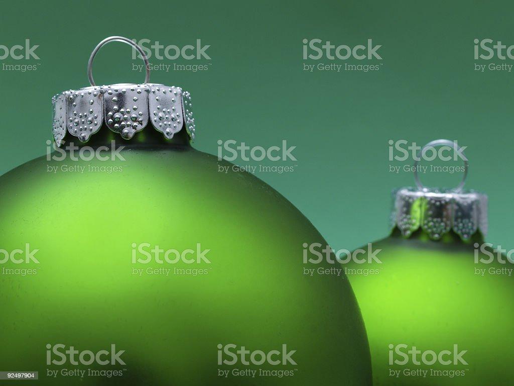 Green Ornaments royalty-free stock photo