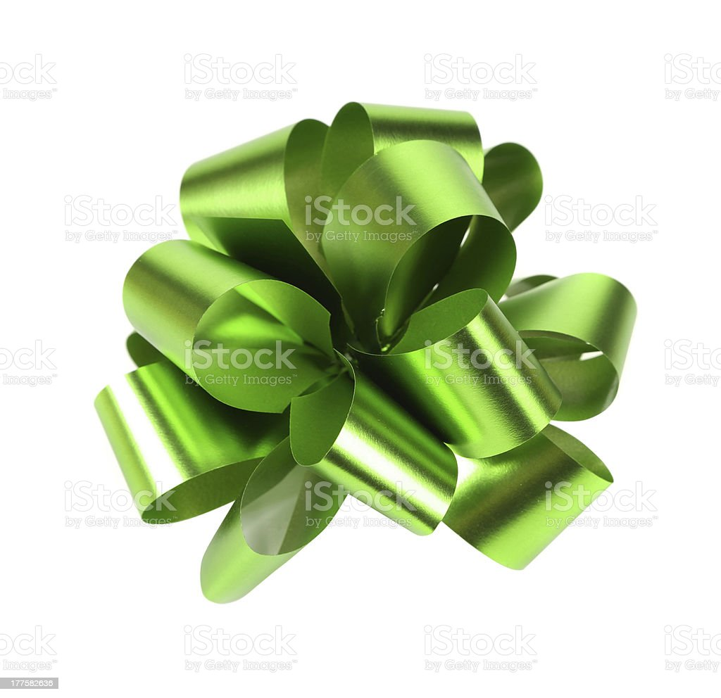 Green packaging band isolated on white royalty-free stock photo