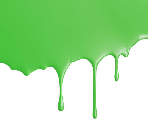Green Paint isolated on White stock photo