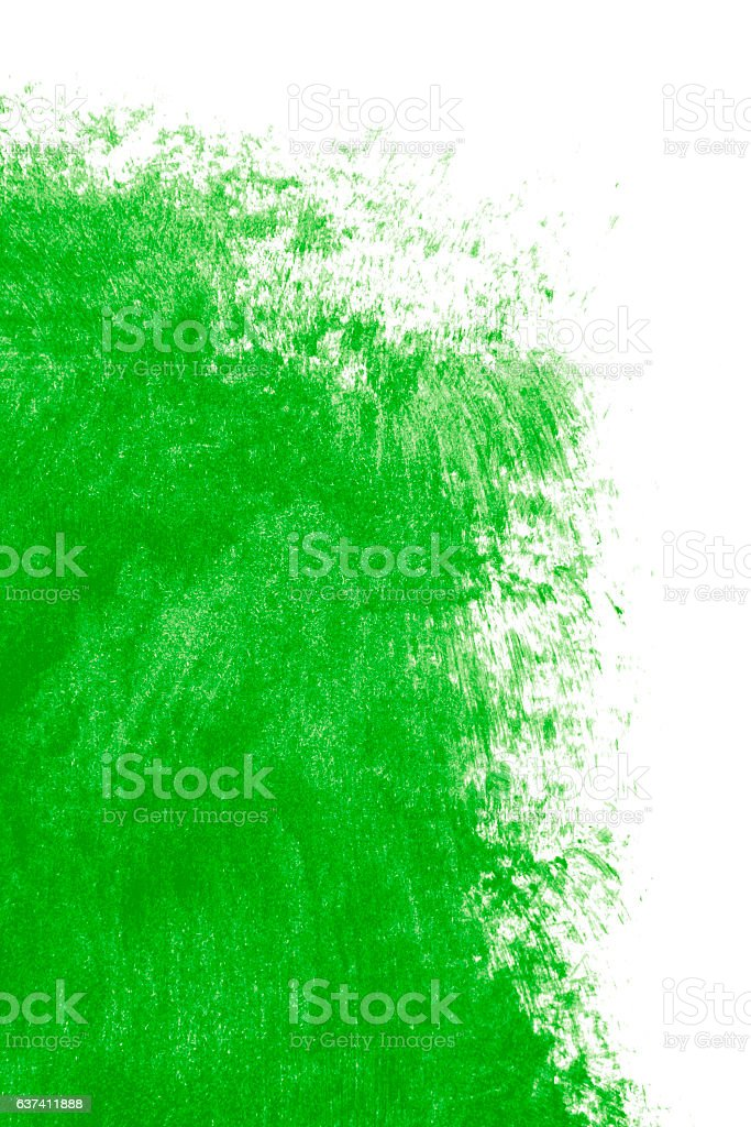 Green paint on a white background stock photo