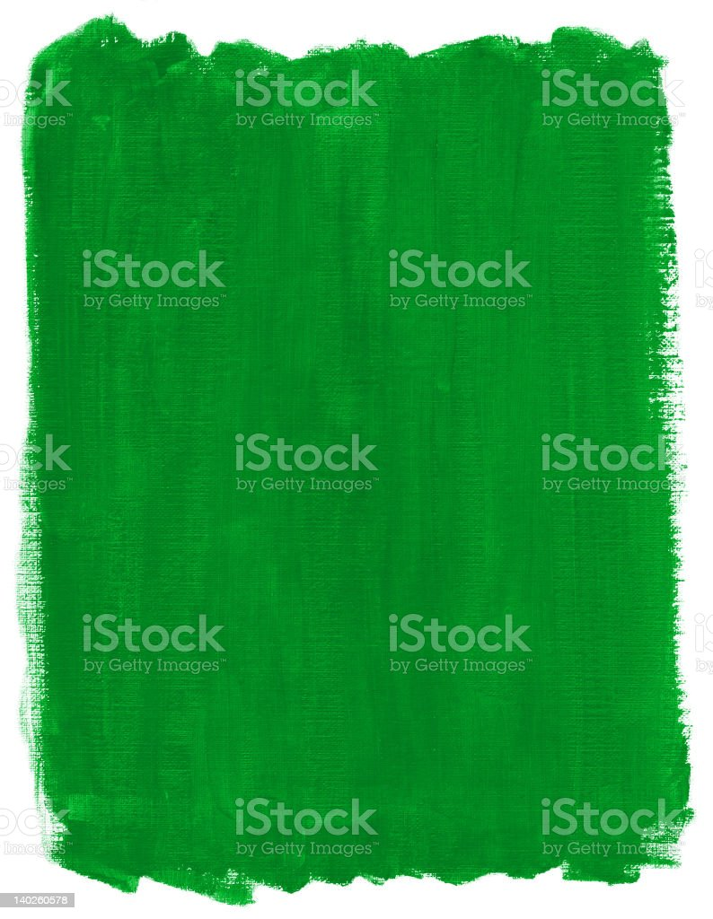 Green Paint on textured paper. royalty-free stock photo