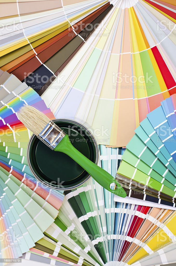 Green paint sample. royalty-free stock photo