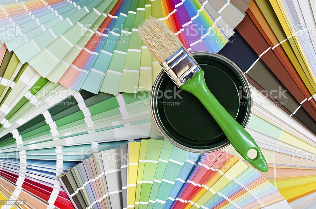 Green paint sample. royalty-free stock photo