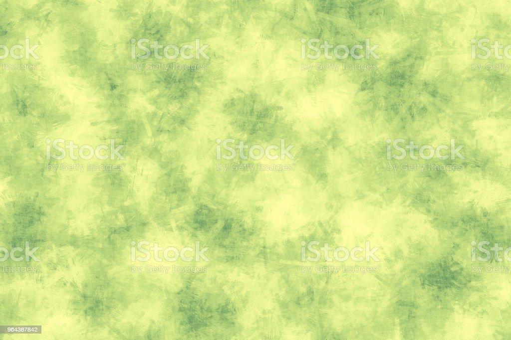 Groen geschilderd achtergrond. Groene borstel beroerte textuur op witte achtergrond - Royalty-free Abstract Stockfoto