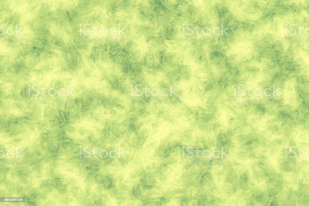 Verde pintado o fundo. Textura de traçado de pincel verde sobre fundo branco - Foto de stock de Abstrato royalty-free