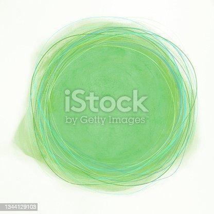 istock Green painted circle 1344129103