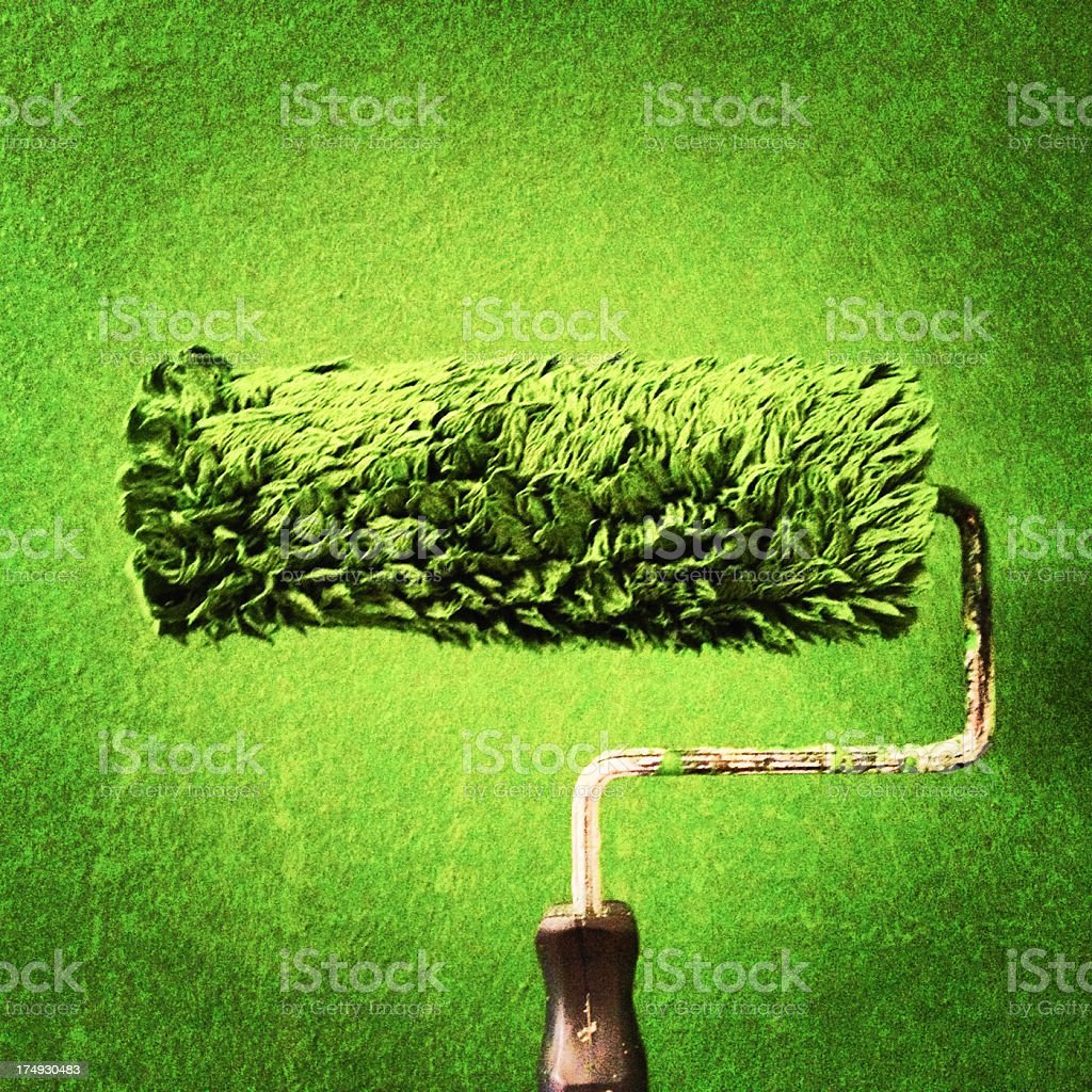 Green painting royalty-free stock photo