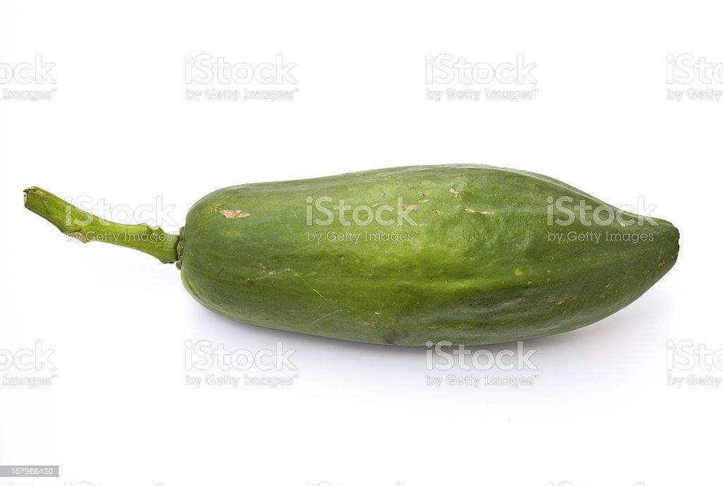 Green papaya (Thai fruit, Malagor). stock photo