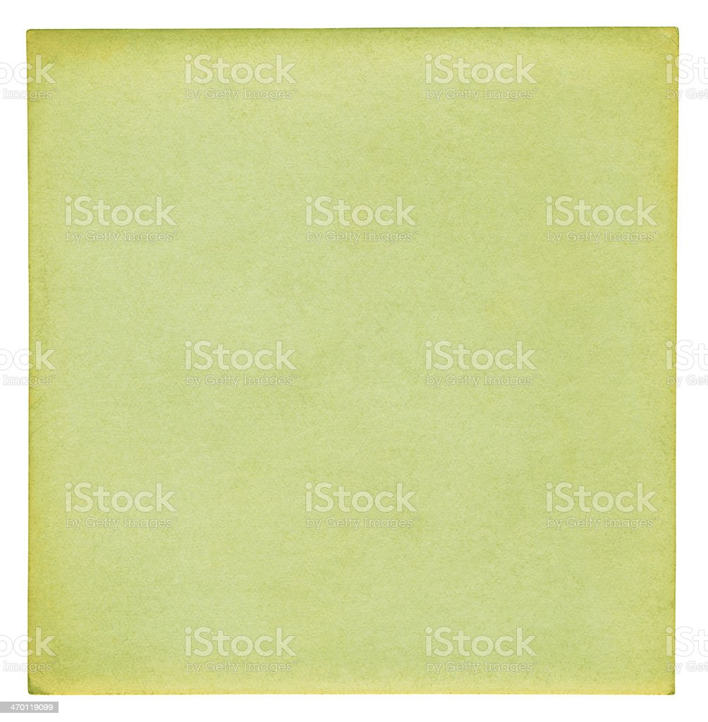 Green paper background (clipping path included) royalty-free stock photo
