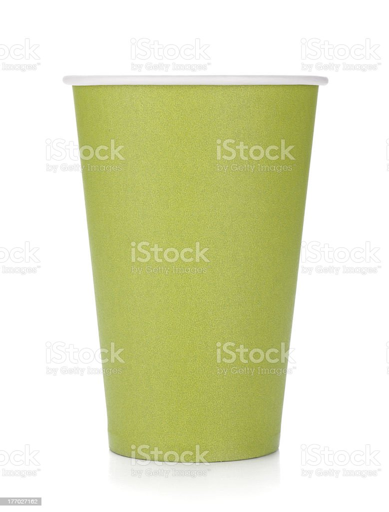 Green paper coffee cup royalty-free stock photo