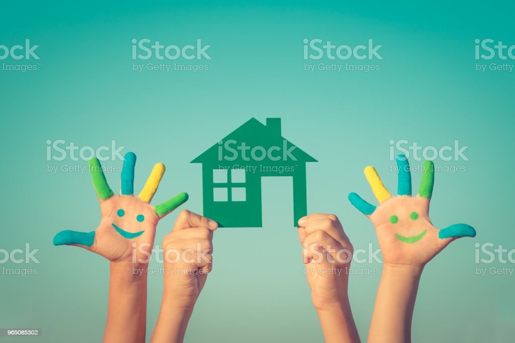 Green paper house royalty-free stock photo