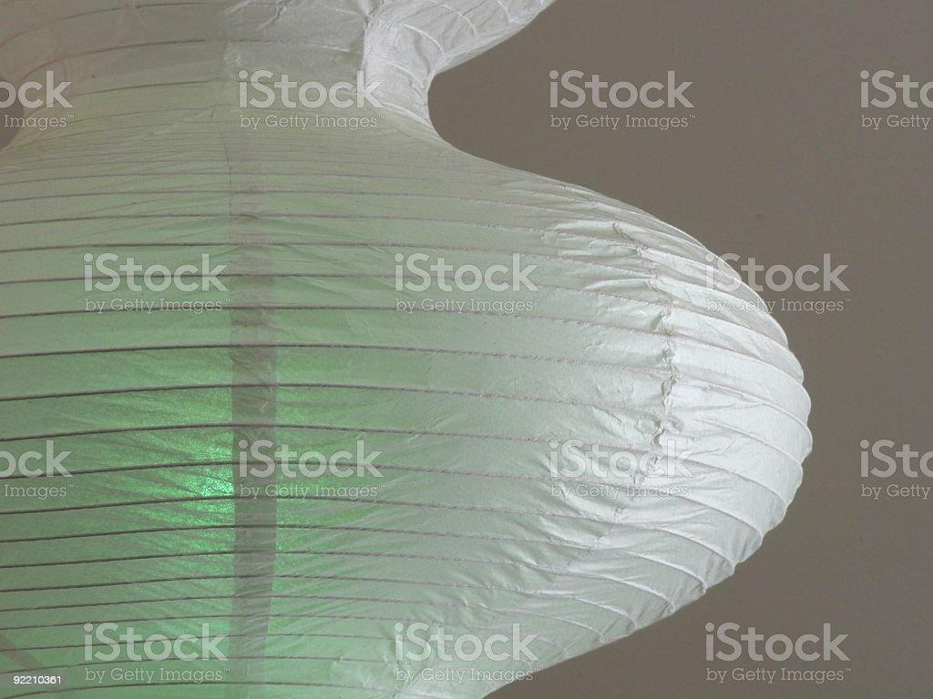 Green Paper Lantern royalty-free stock photo