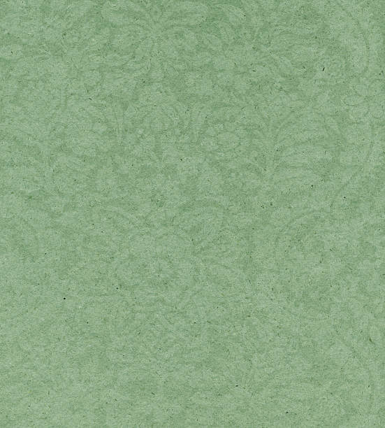 green paper with floral pattern - watermark stock photos and pictures