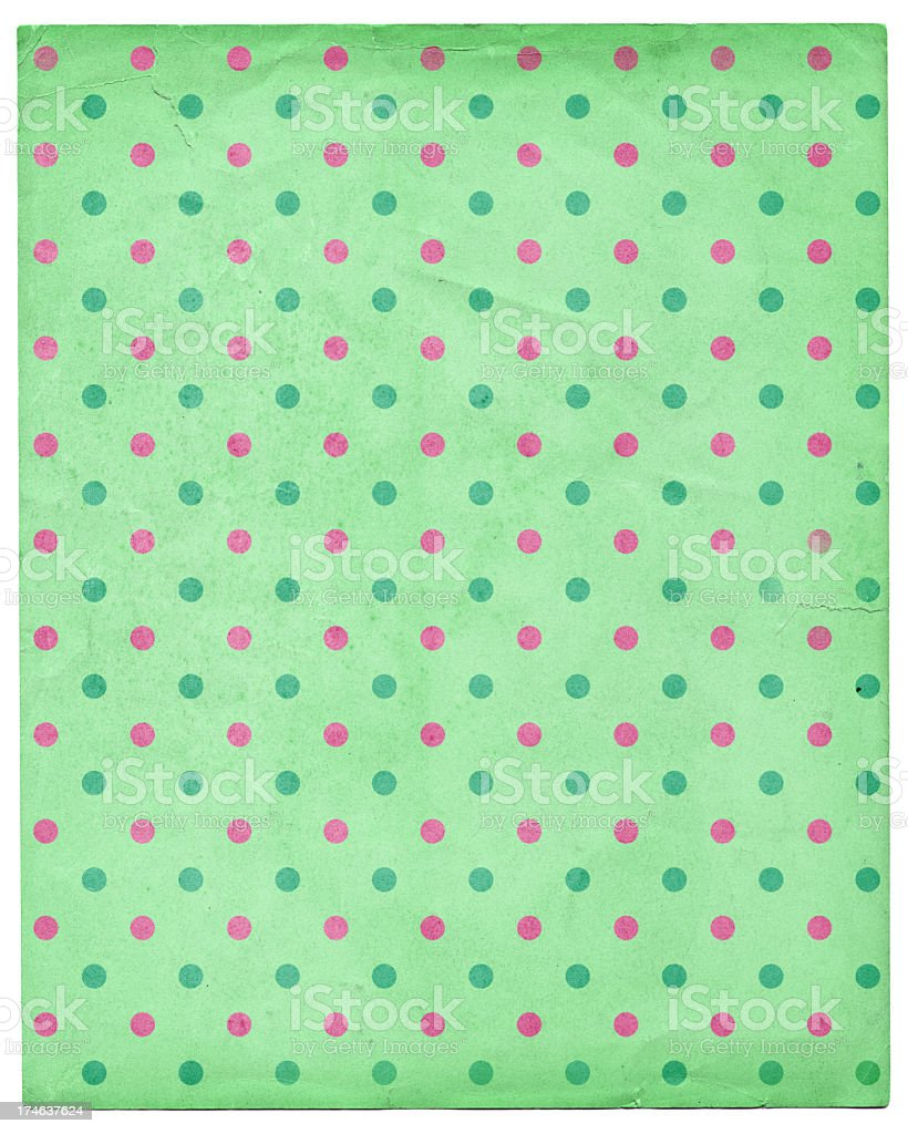 green paper with multicolor polka dots royalty-free stock photo
