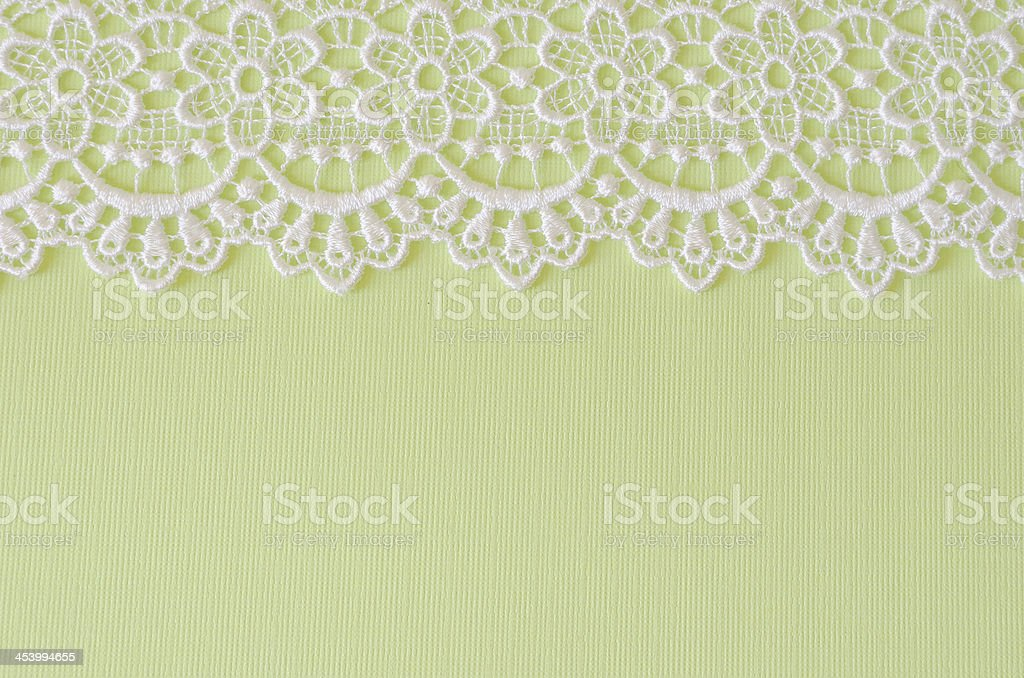 Green Paper with White Lace Border royalty-free stock photo