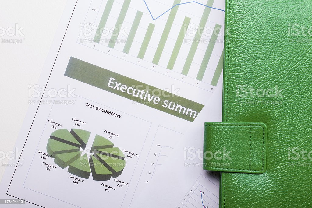 Green paperwork royalty-free stock photo