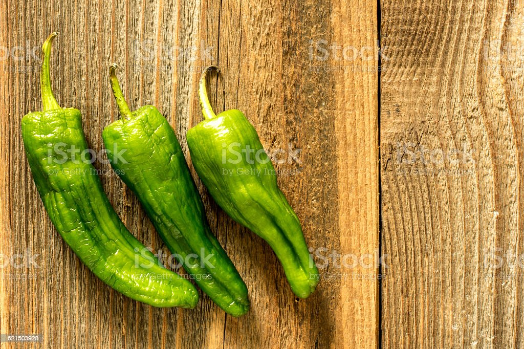 Green Paprika On The Table foto stock royalty-free